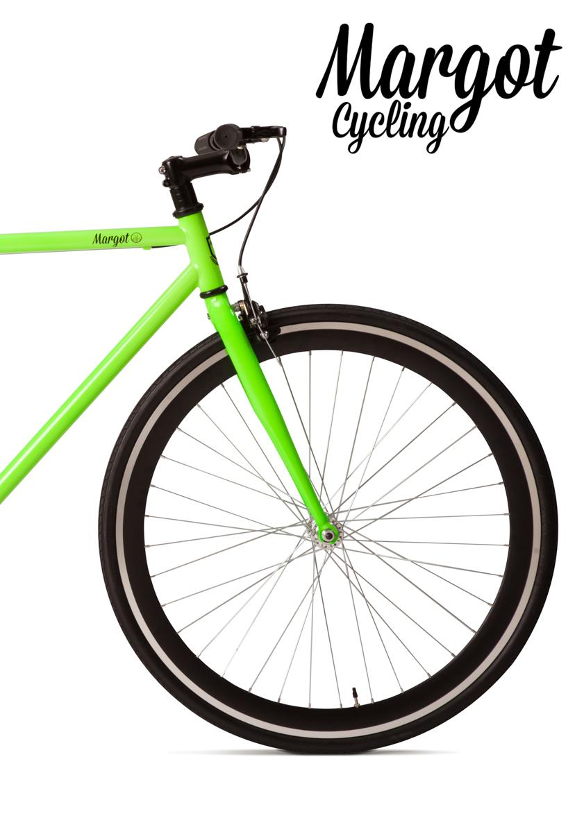 Bicicletta scatto fisso ruota anteriorei