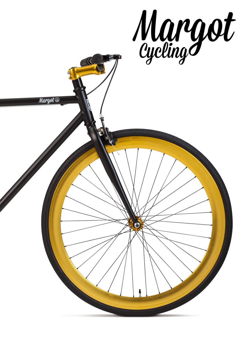 Bici fixed ruota anteriore anodizzata