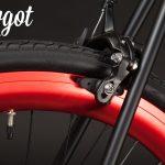 Bici single speed freno e ruota posteriore rossa