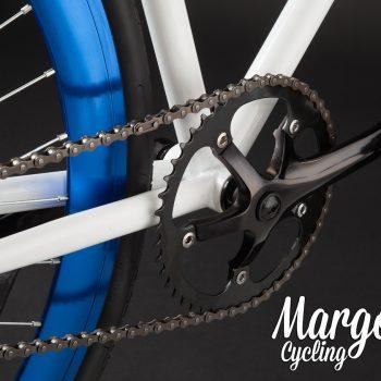 Guarnitura bici fissa bianco-blu