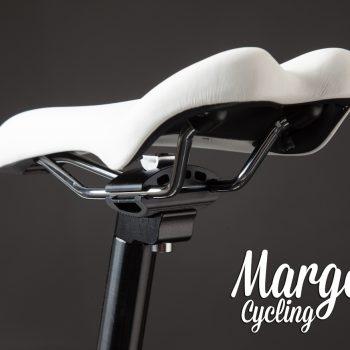 Sellino bianco bici fixed telaio bianco fluorescente
