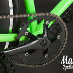 Guarnitura bici fissa verde