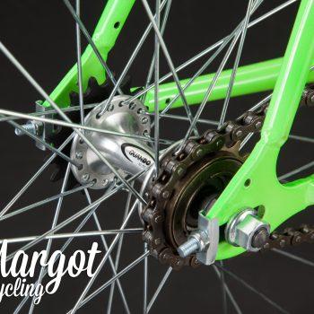 Mozzo flip-flop bici single speed telaio verde