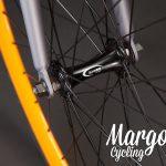 LAMPO bici fixie: ruota anteriore arancio