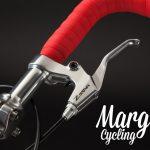 Leva freno bici a scatto fisso con manubrio rosso