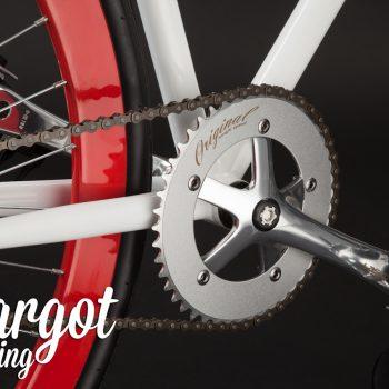 Guarnitura bici fissa telaio bianco