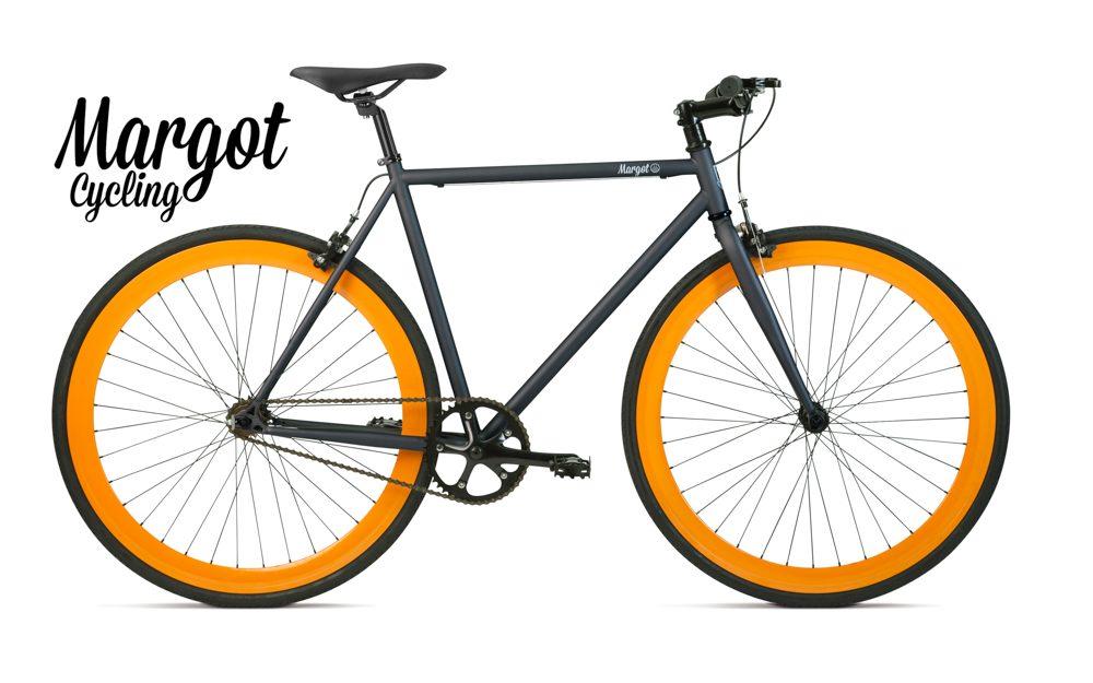 LAMPO bici fixed scatto fisso grigio arancio
