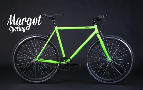 Bici singlespeed verde