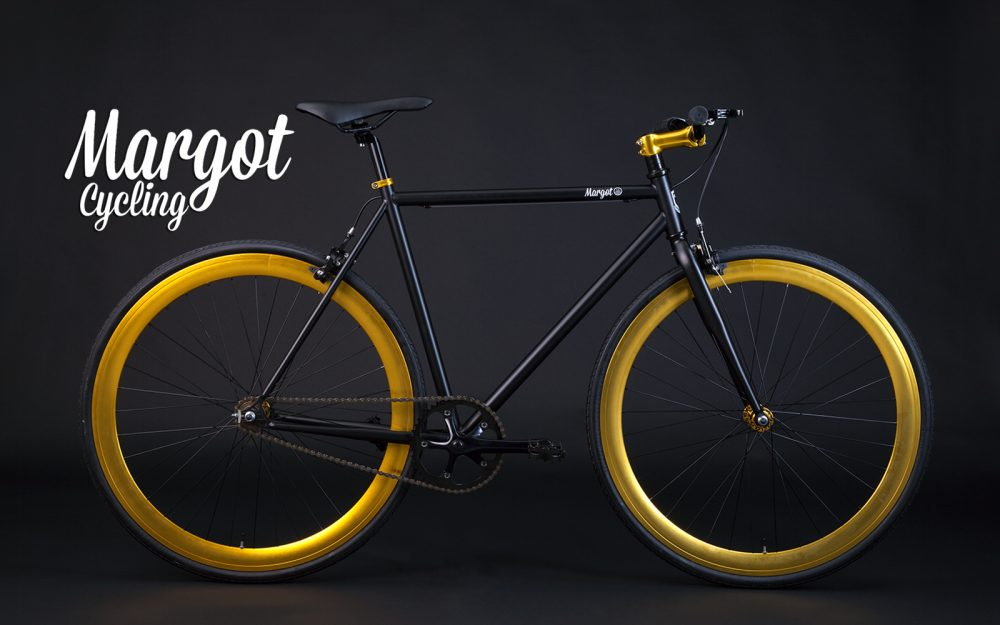 Fixie schwarz gold SInglespeed Bike