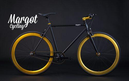 Bici fixed cerchi anodizzati oro