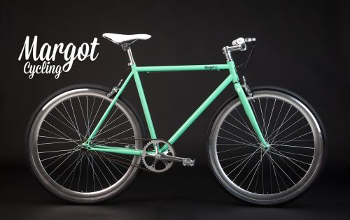 Fixed bike colore verde vintage