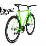 City bike a scatto fisso verde fluo