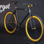 ELDORADO bici minimal leggera: cerchi oro single speed