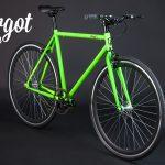Bicicletta a scatto fisso telaio verde