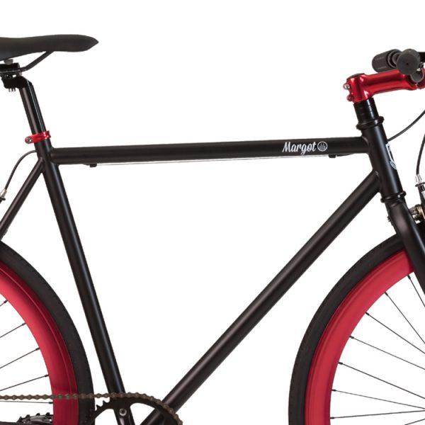Telaio nero opaco bici fixed