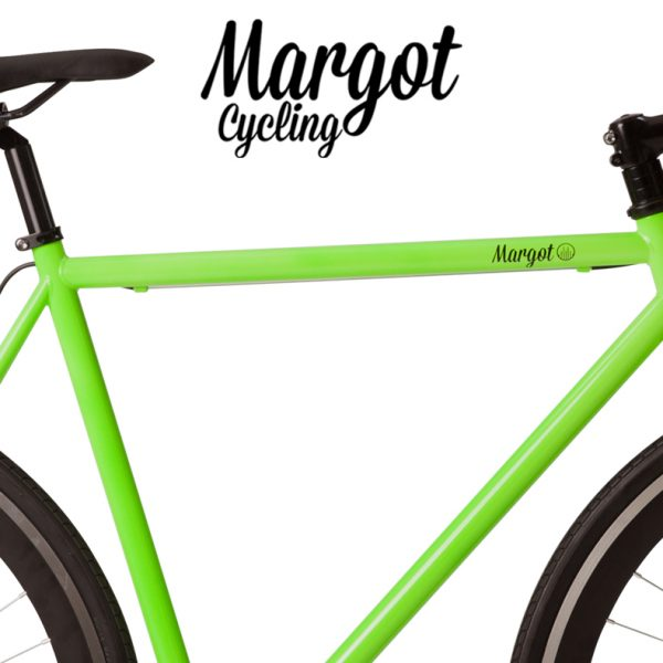 Telaio verde bici fixed