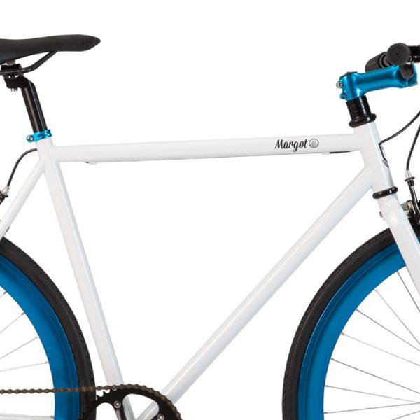 Telaio bianco bici fixed