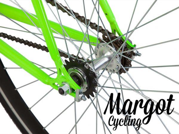 Bici fixed con mozzo flip-flop a doppia corona