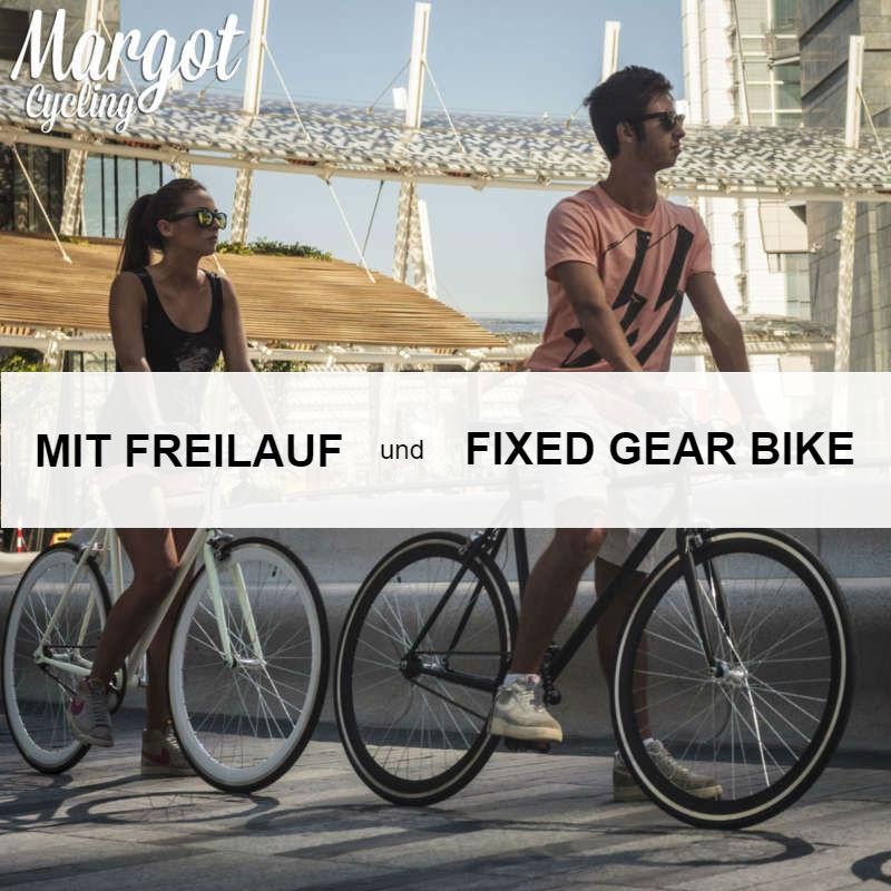 Mit Freilauf und Fixed Gear Bikes