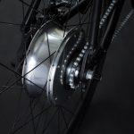 Bici elettrica OLYMPUS-ZERO. Motore e batteria nel mozzo posteriore.