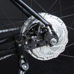 Bici elettrica OLYMPUS-ZERO. Freno a disco posteriore.