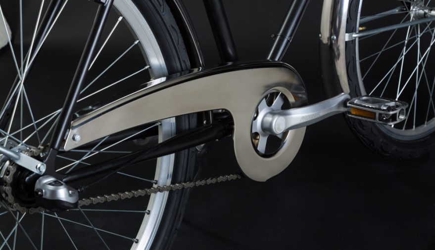 City bike uomo con carter e parafanghi inossidabili mede in Italy