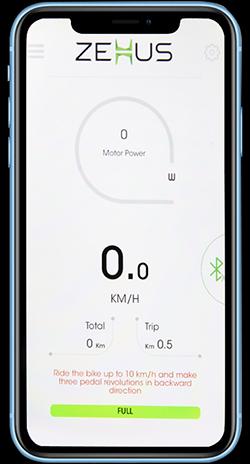 Con l'app bitride, la bici elettrica leggera OLYMPUS è sotto controllo
