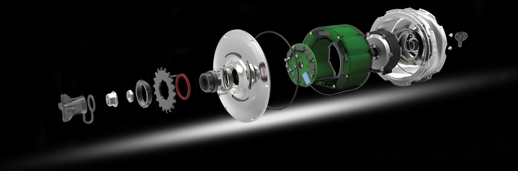 Componenti motore Zehus per la bici elettrica leggera OLYMPUS