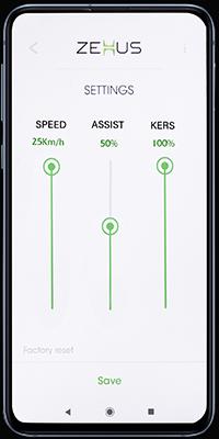 Con lo smartphone scegli il livello di assistenza della bici elettrica OLYMPUS.