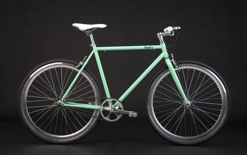 Bici scatto fisso vintage telaio verde