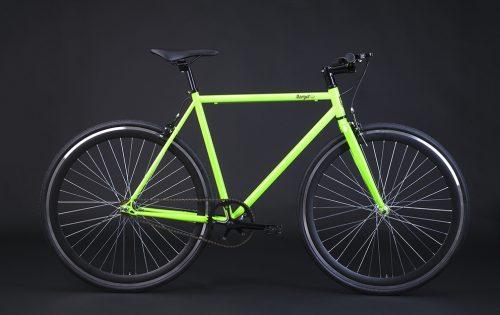 Bici scatto fisso verde fluo telaio verde